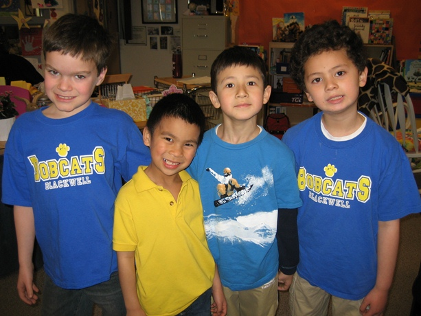 Four Blackwell Elementary students